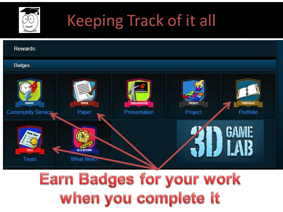 Earn Badges for your work