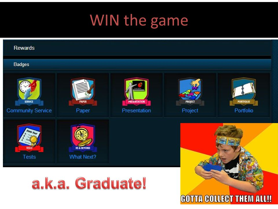 WIN the game Keeping track of it all a.k.a. Graduate!