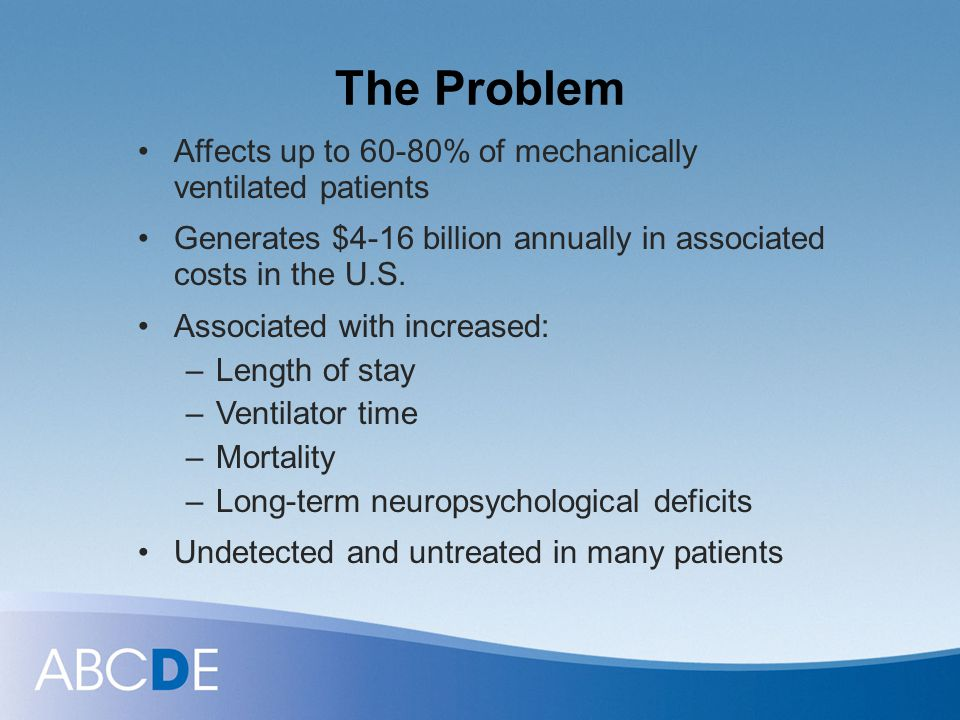 The Problem Affects up to 60-80% of mechanically ventilated patients