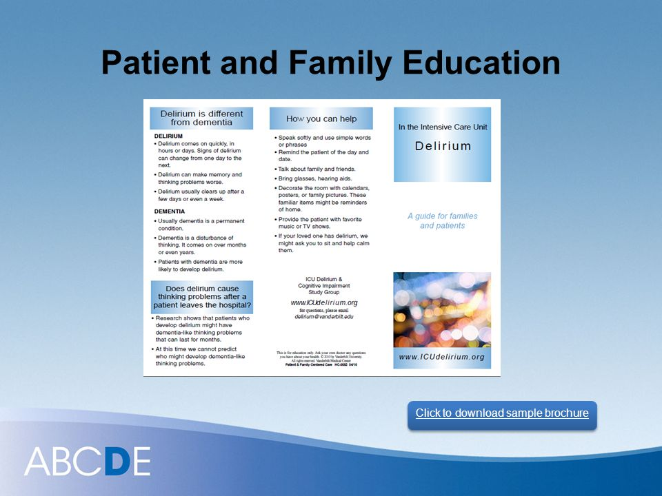 Patient and Family Education