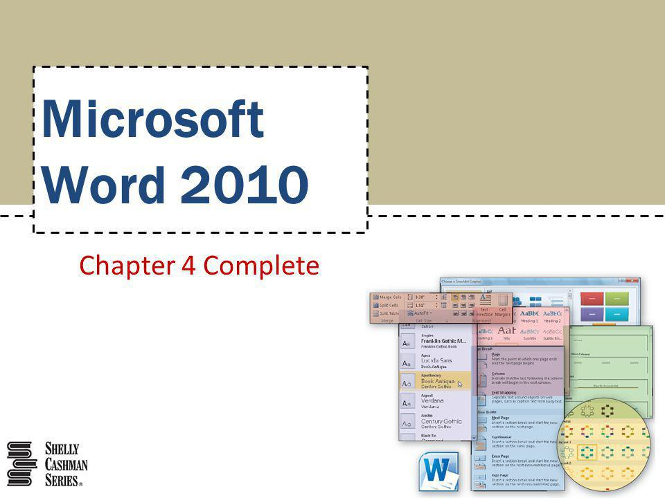 Microsoft Word 2010 Chapter 4 Complete