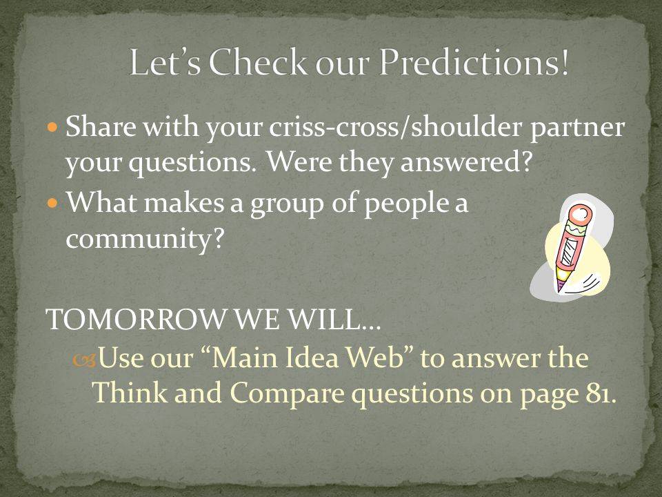 Let's Check our Predictions!