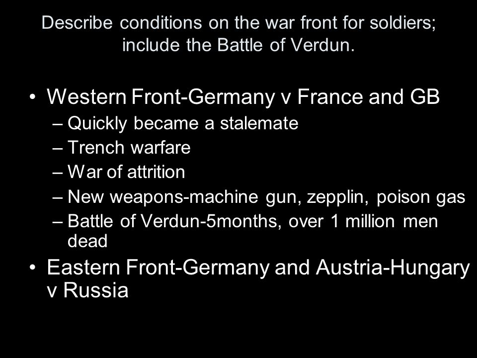 Western Front-Germany v France and GB