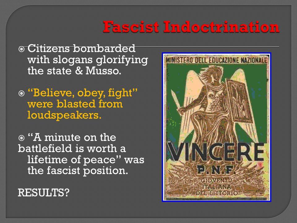 Fascist Indoctrination