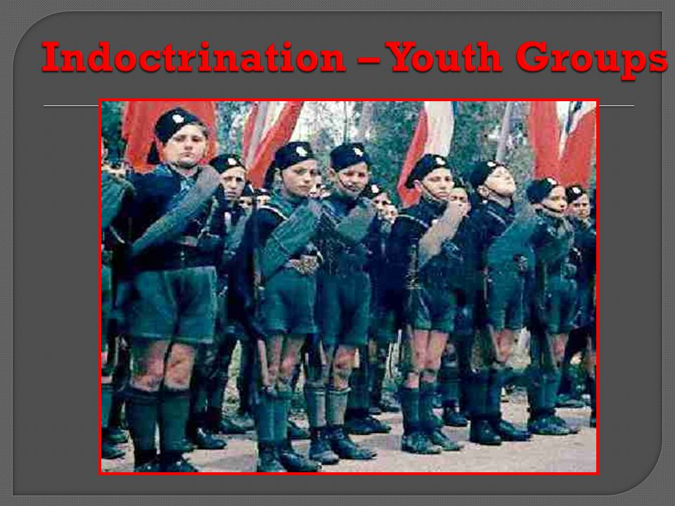 Indoctrination – Youth Groups