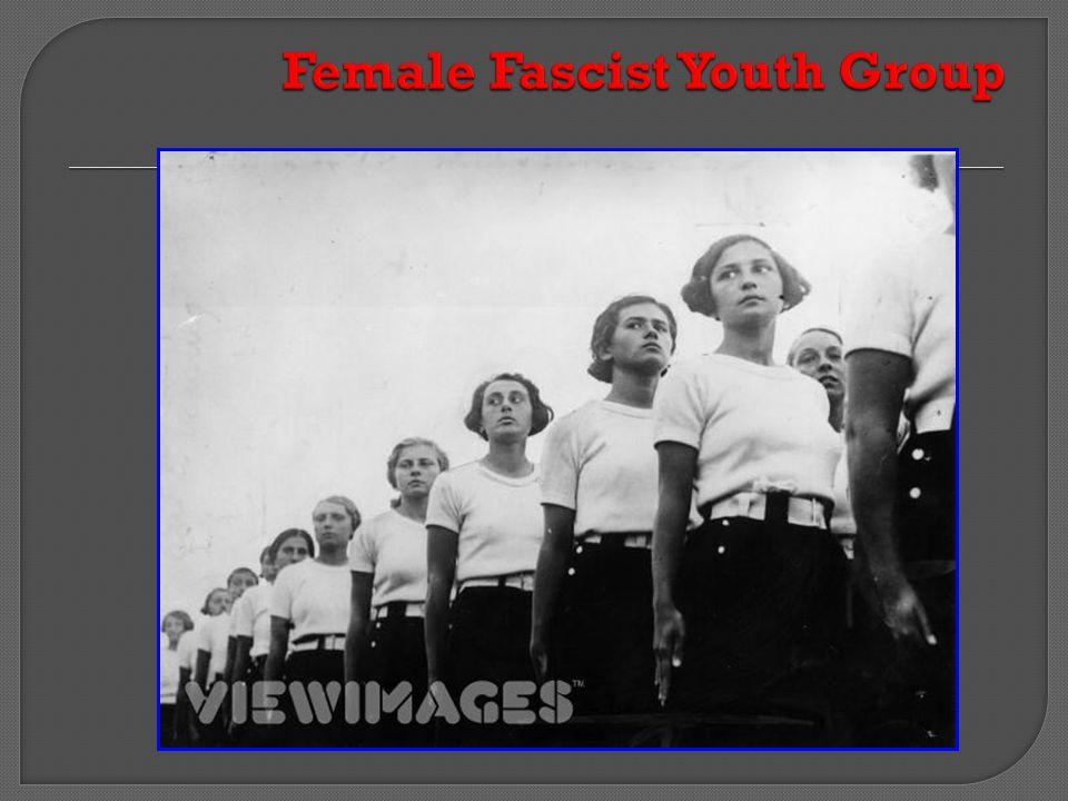 Female Fascist Youth Group
