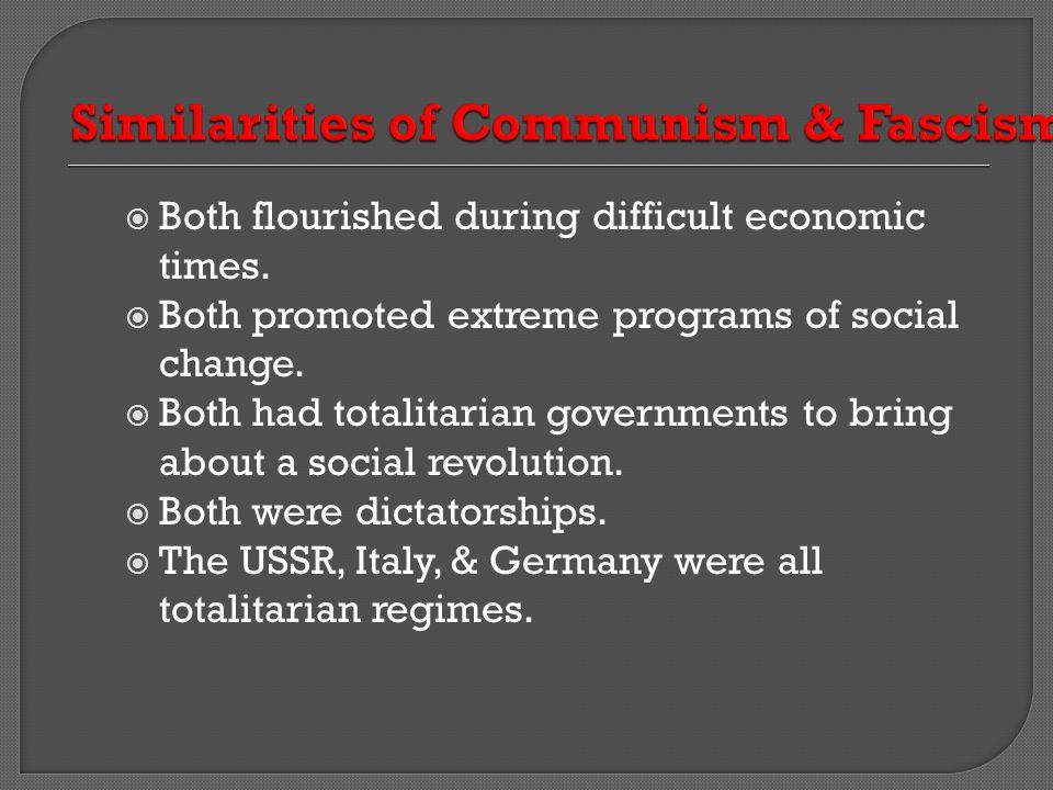 Similarities of Communism & Fascism