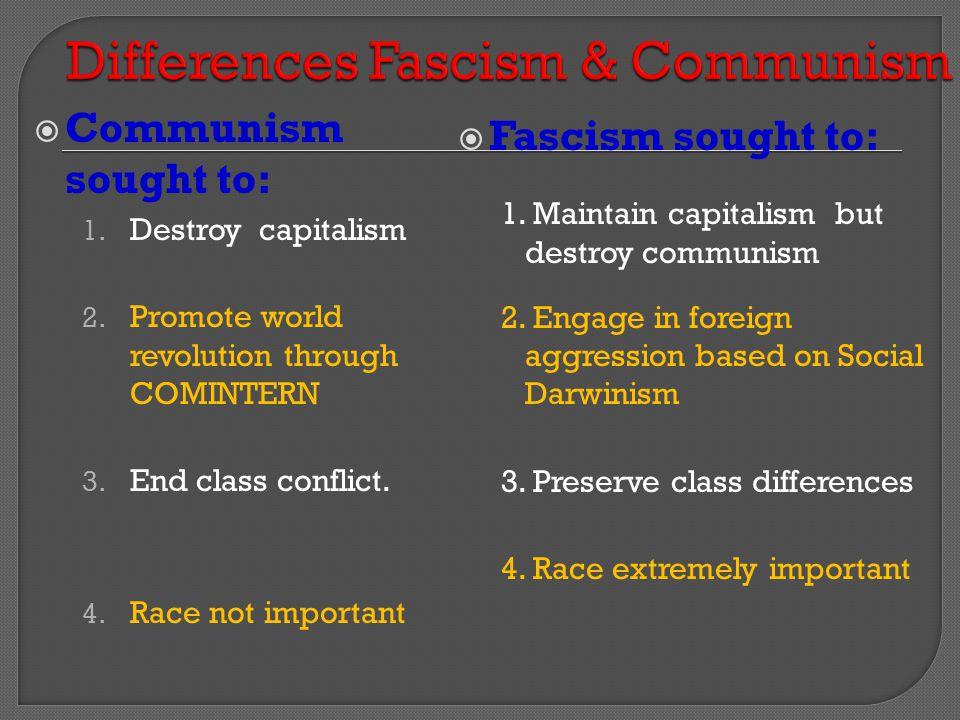Differences Fascism & Communism