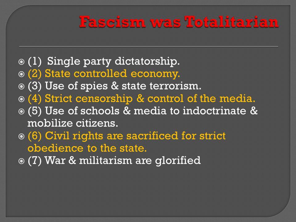 Fascism was Totalitarian