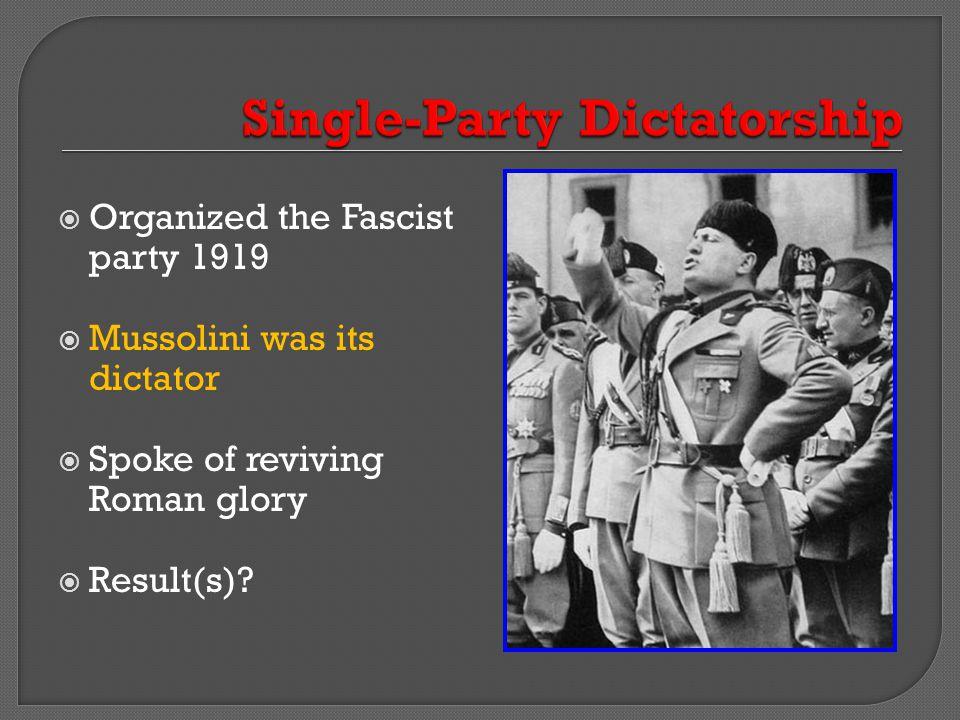 Single-Party Dictatorship