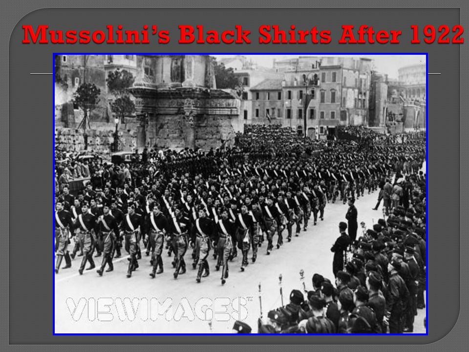 Mussolini's Black Shirts After 1922