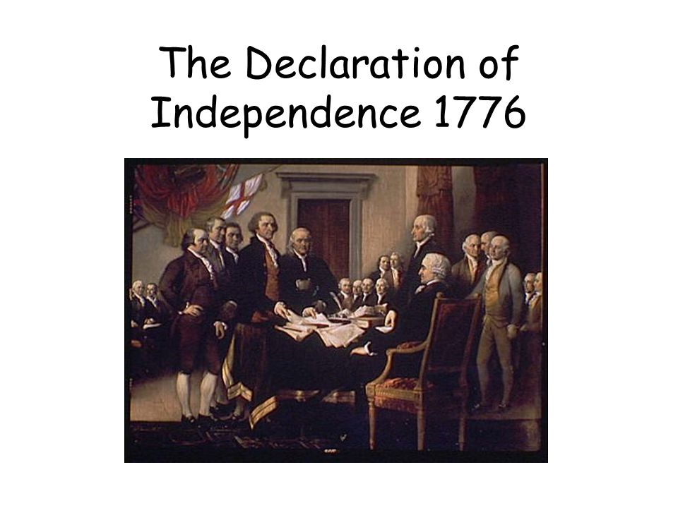 The Declaration of Independence 1776