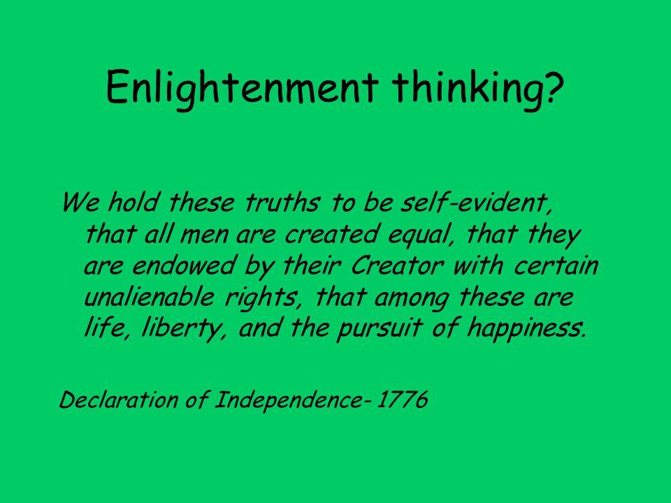 Enlightenment thinking