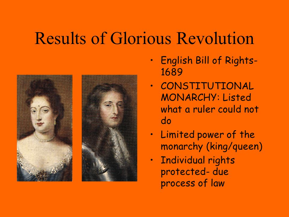 Results of Glorious Revolution