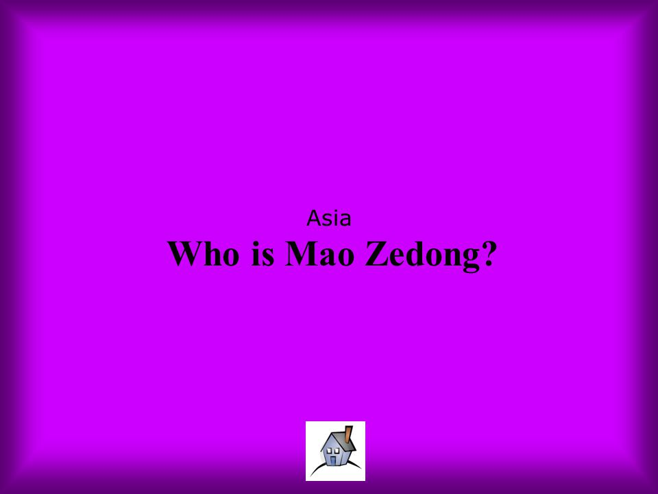 Asia Who is Mao Zedong