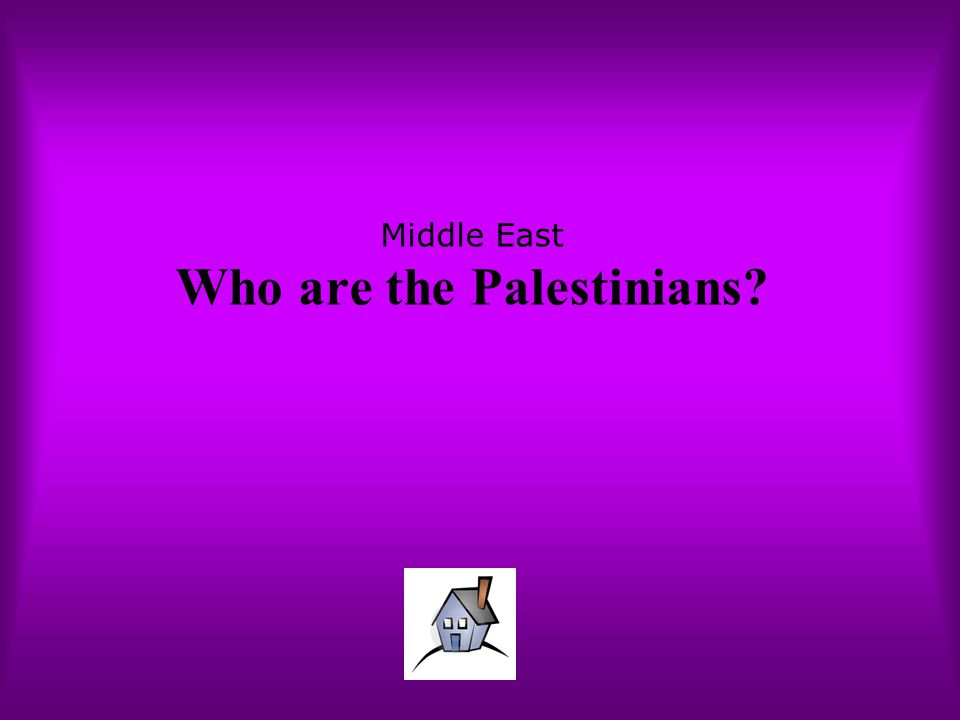 Middle East Who are the Palestinians