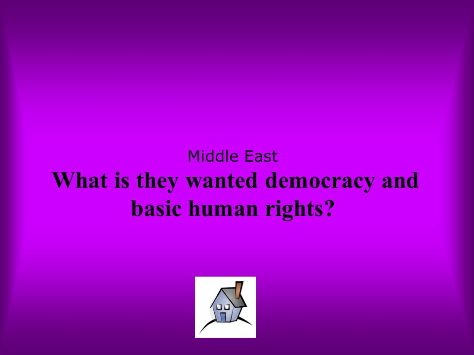 Middle East What is they wanted democracy and basic human rights