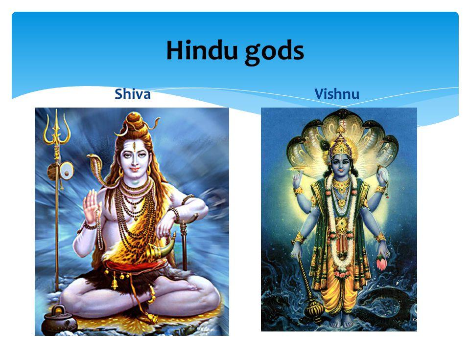 Hindu gods Shiva Vishnu