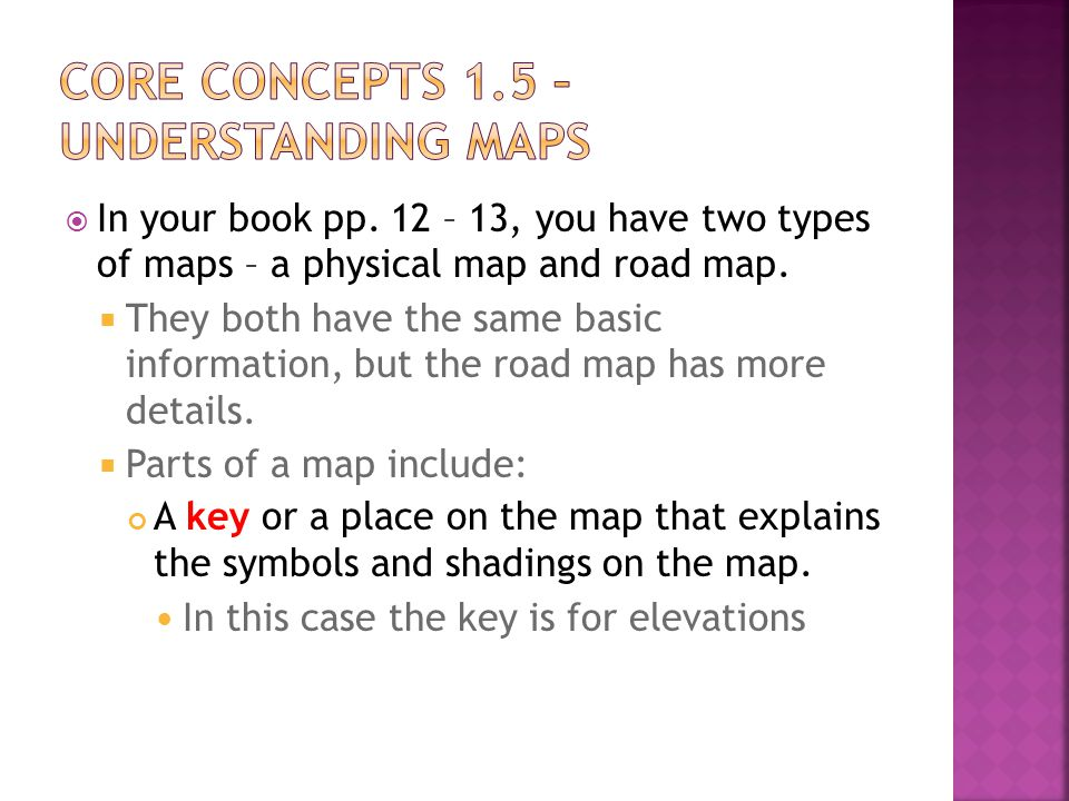 Core Concepts 1.5 – Understanding Maps