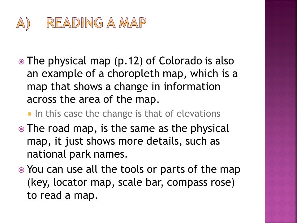 A) Reading a Map