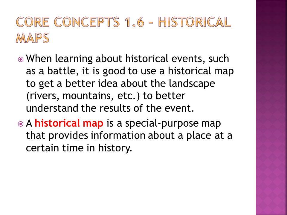 Core Concepts 1.6 – Historical Maps