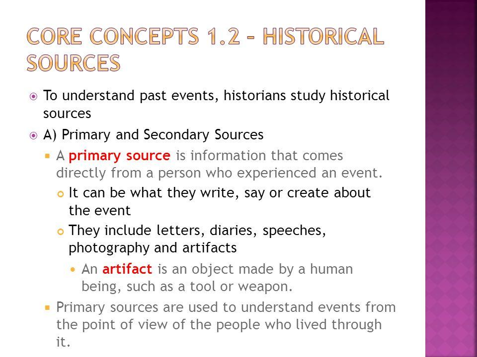 Core Concepts 1.2 – Historical Sources