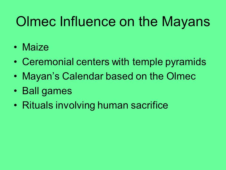 Olmec Influence on the Mayans