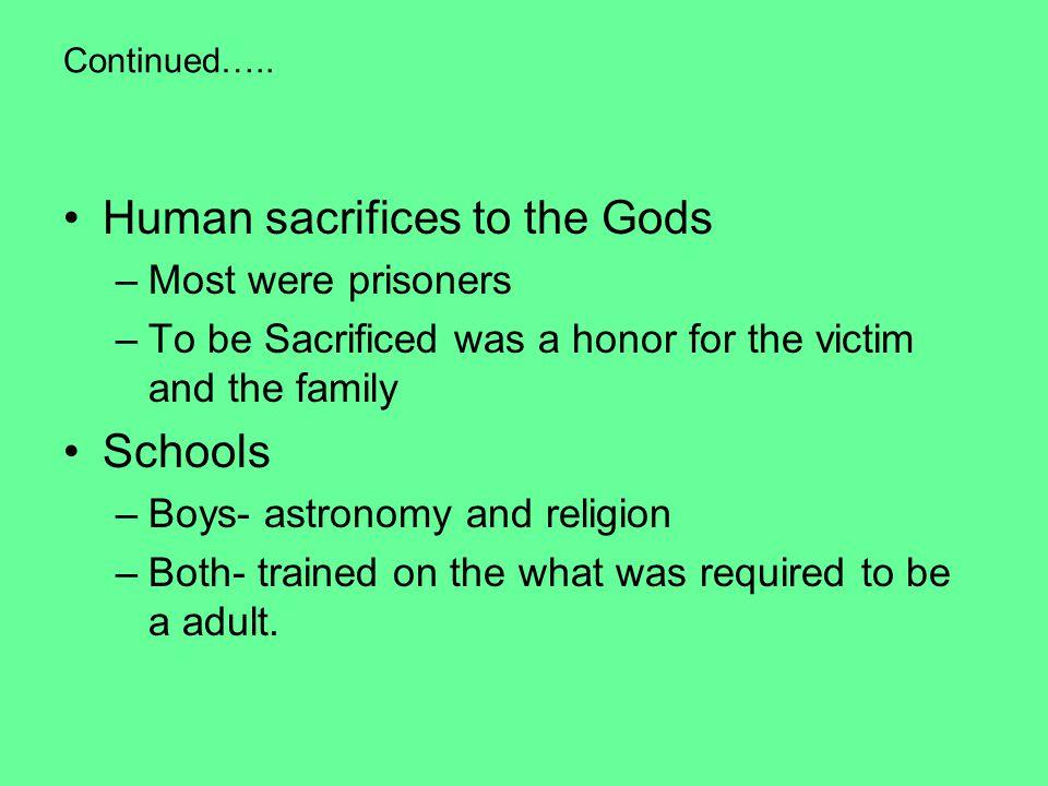 Human sacrifices to the Gods