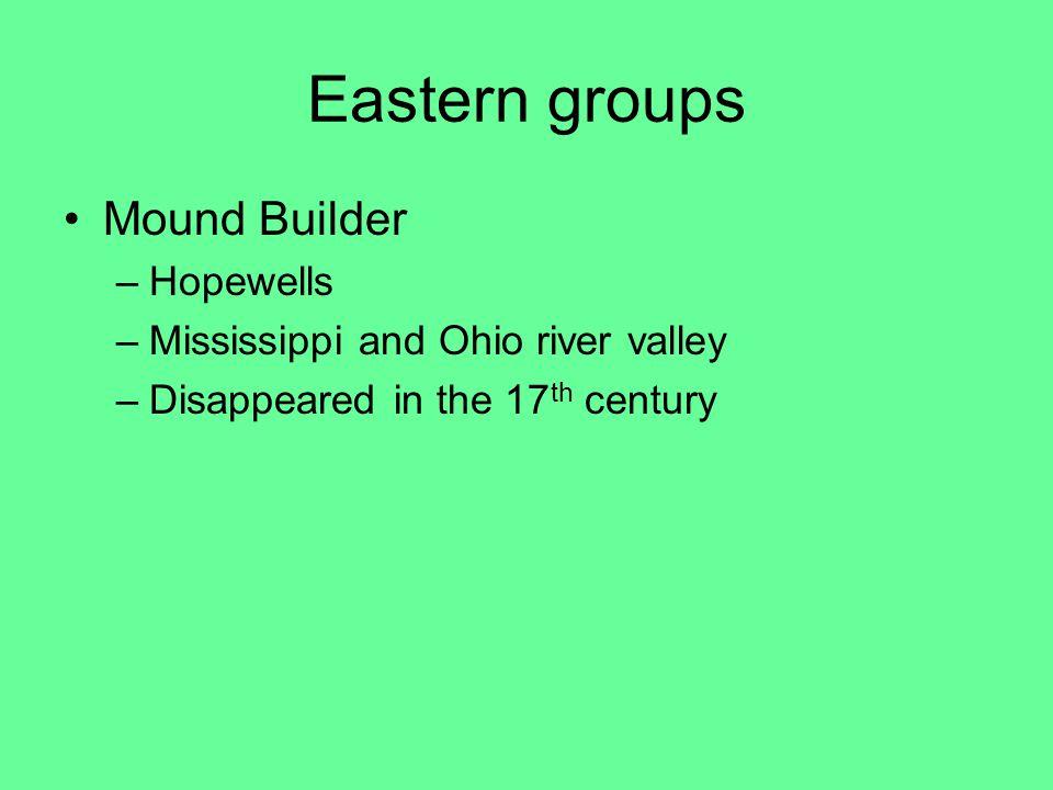 Eastern groups Mound Builder Hopewells