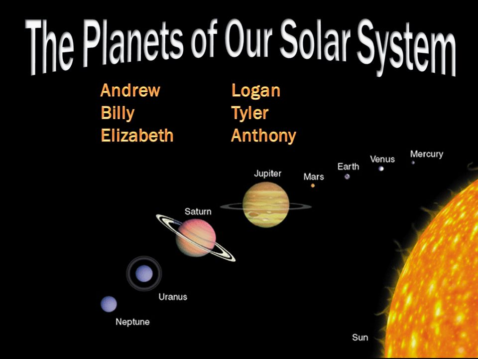 The Planets of Our Solar System - ppt video online download