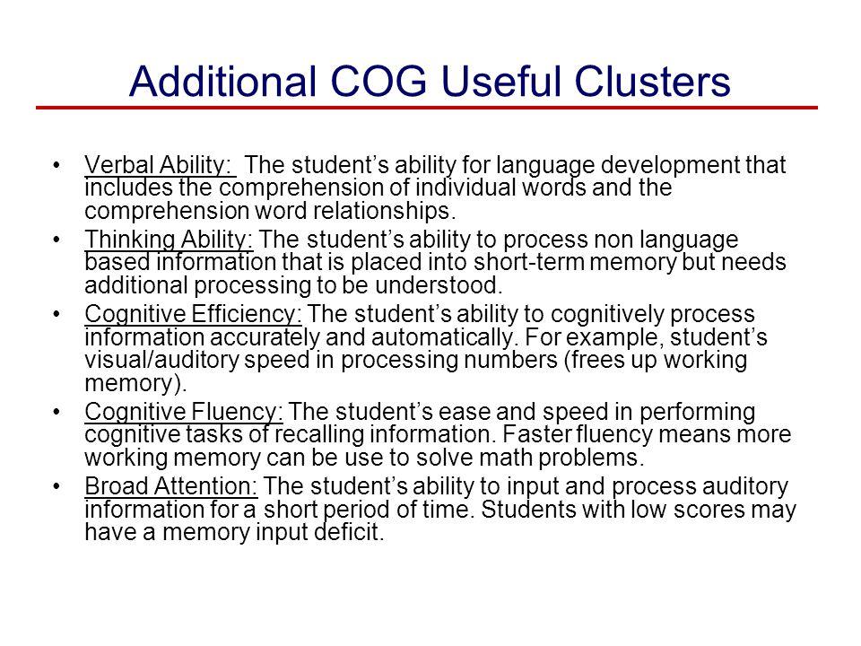 Additional COG Useful Clusters