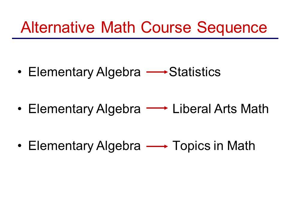Alternative Math Course Sequence