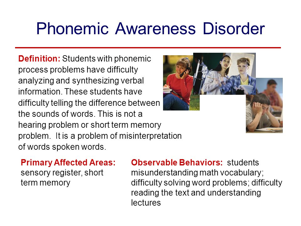 Phonemic Awareness Disorder