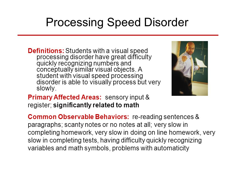 Processing Speed Disorder