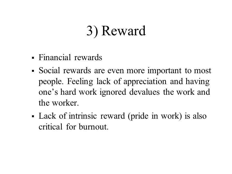 3) Reward Financial rewards