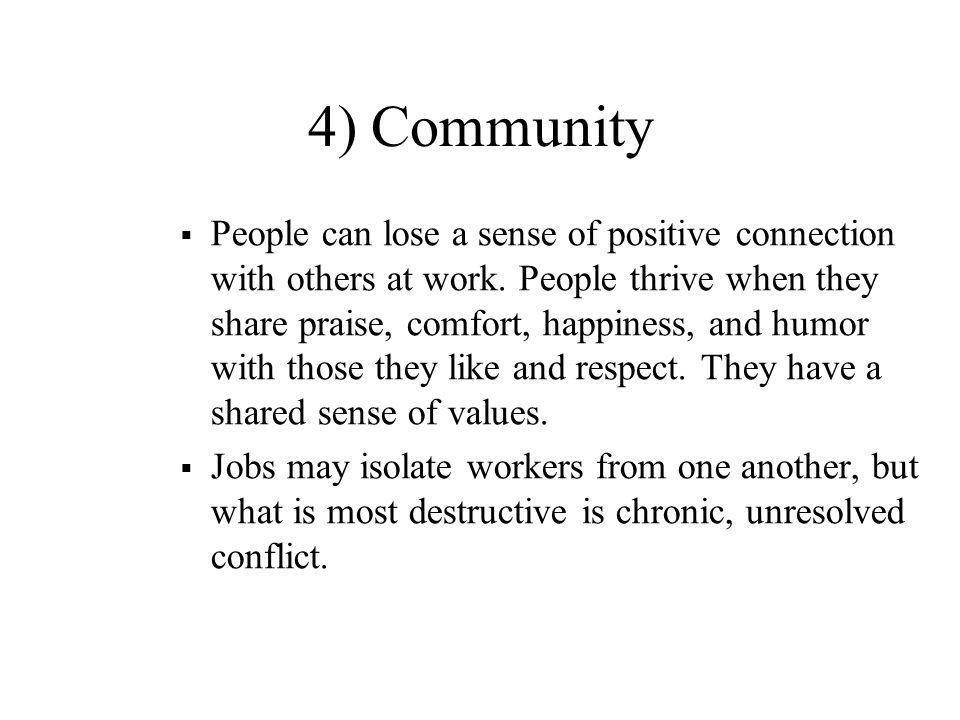 4) Community