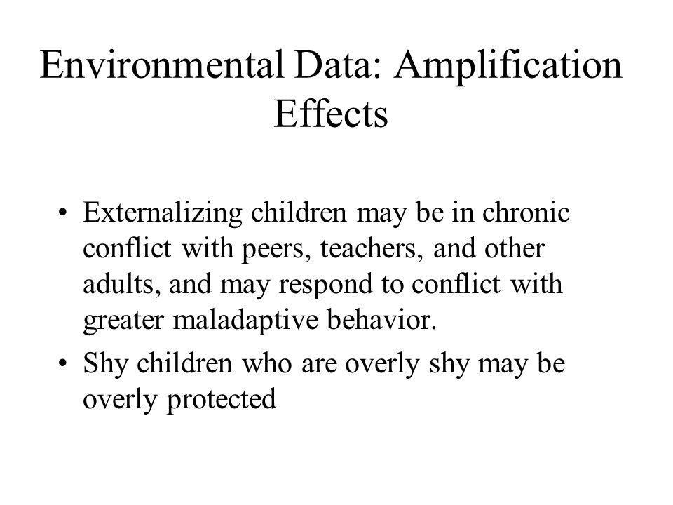 Environmental Data: Amplification Effects