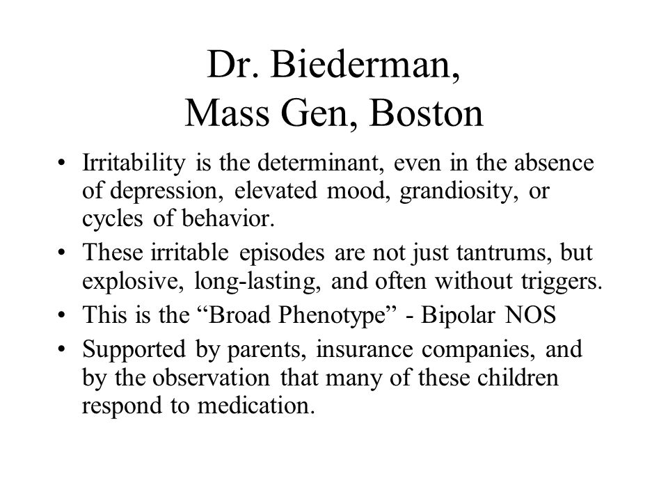 Dr. Biederman, Mass Gen, Boston