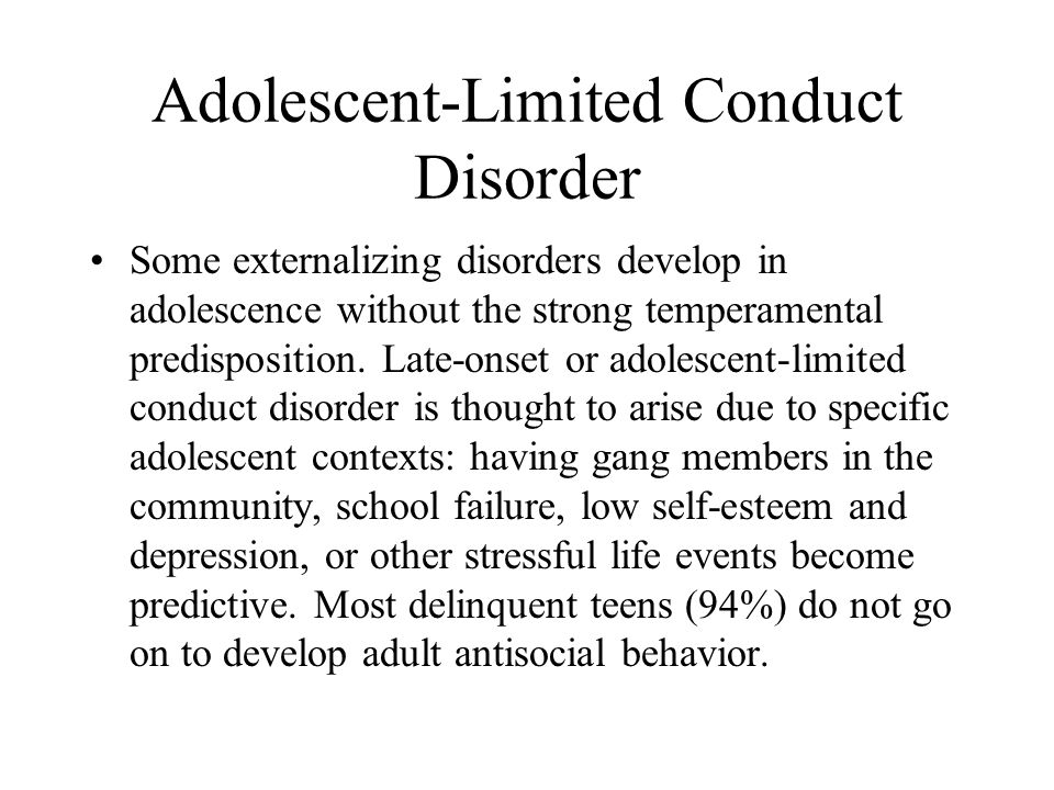 Adolescent-Limited Conduct Disorder