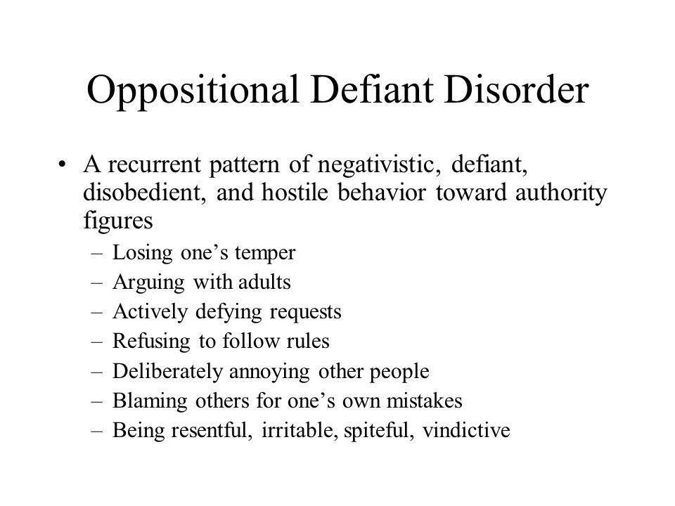 defining oppositional defiant disorder essay