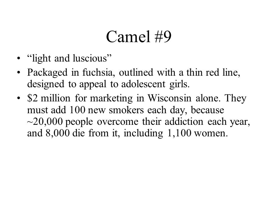 Camel #9 light and luscious