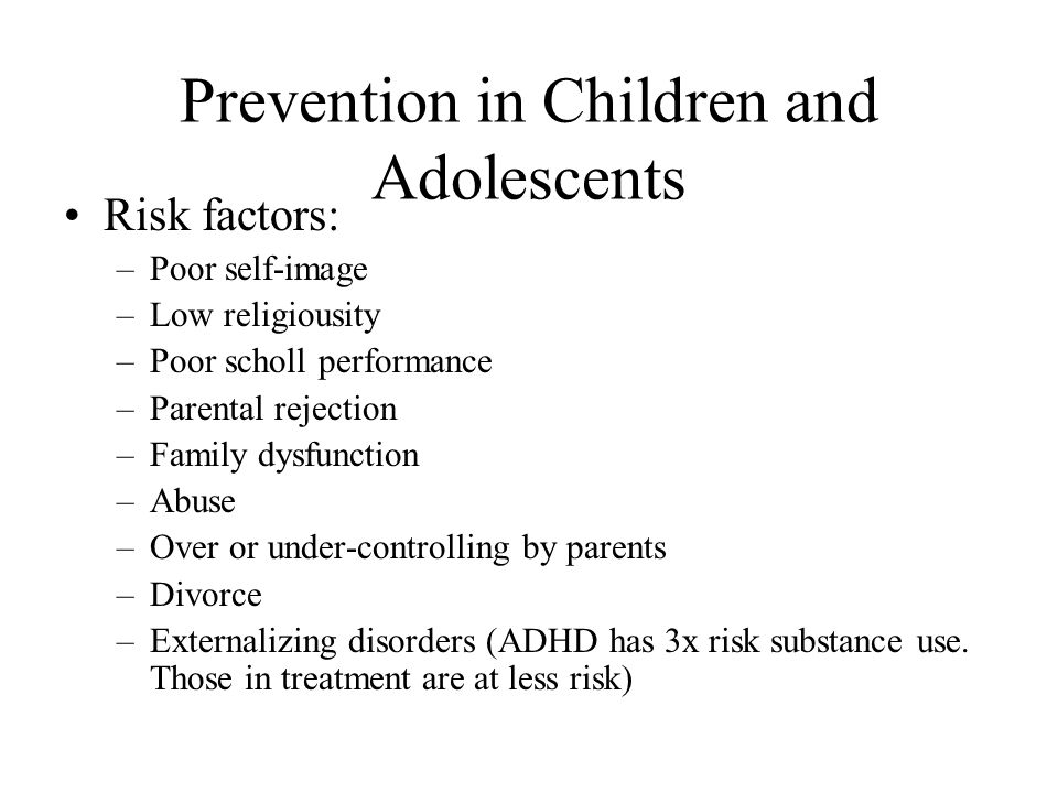 Prevention in Children and Adolescents