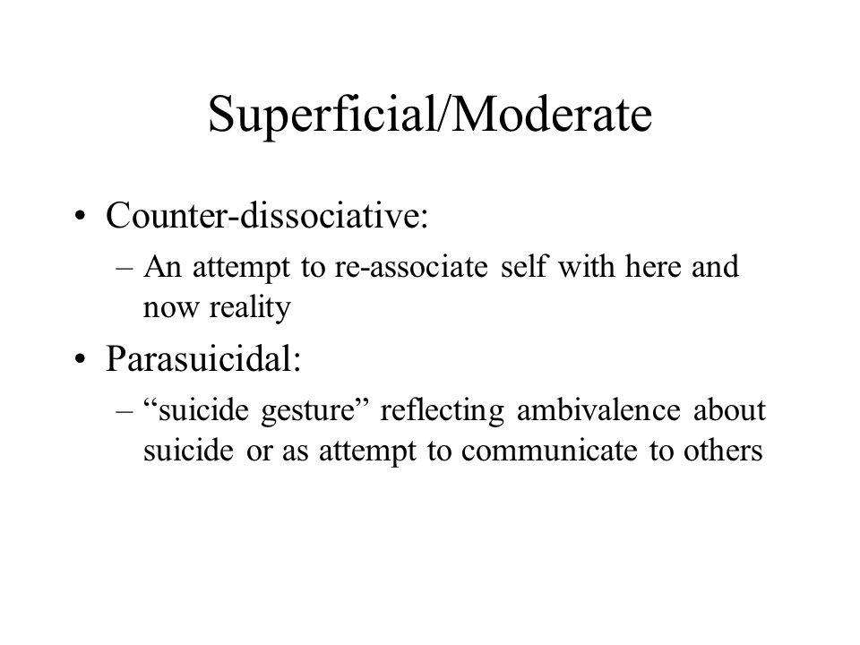 Superficial/Moderate