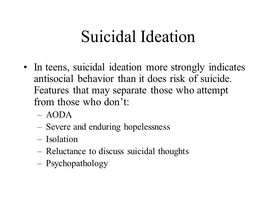 Suicidal Ideation