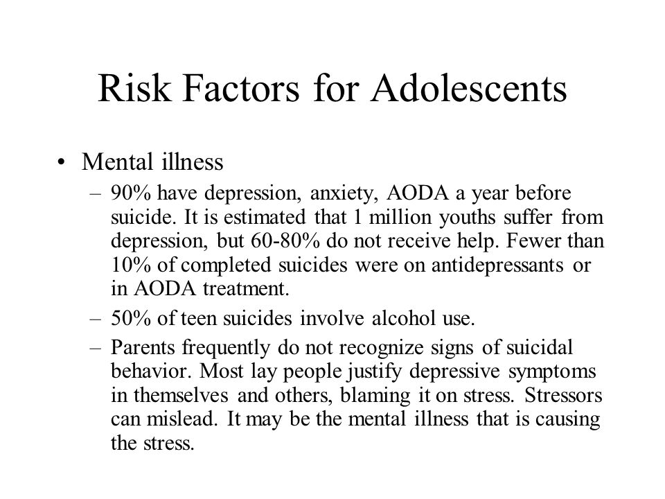 Risk Factors for Adolescents