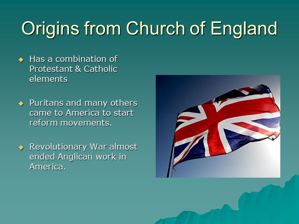 Origins from Church of England