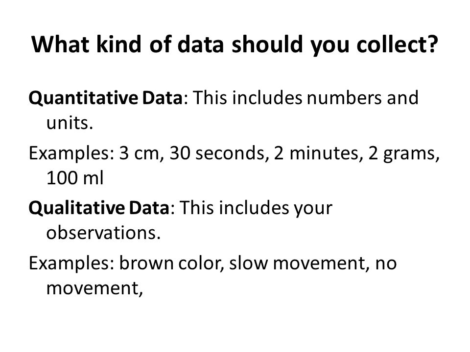What kind of data should you collect