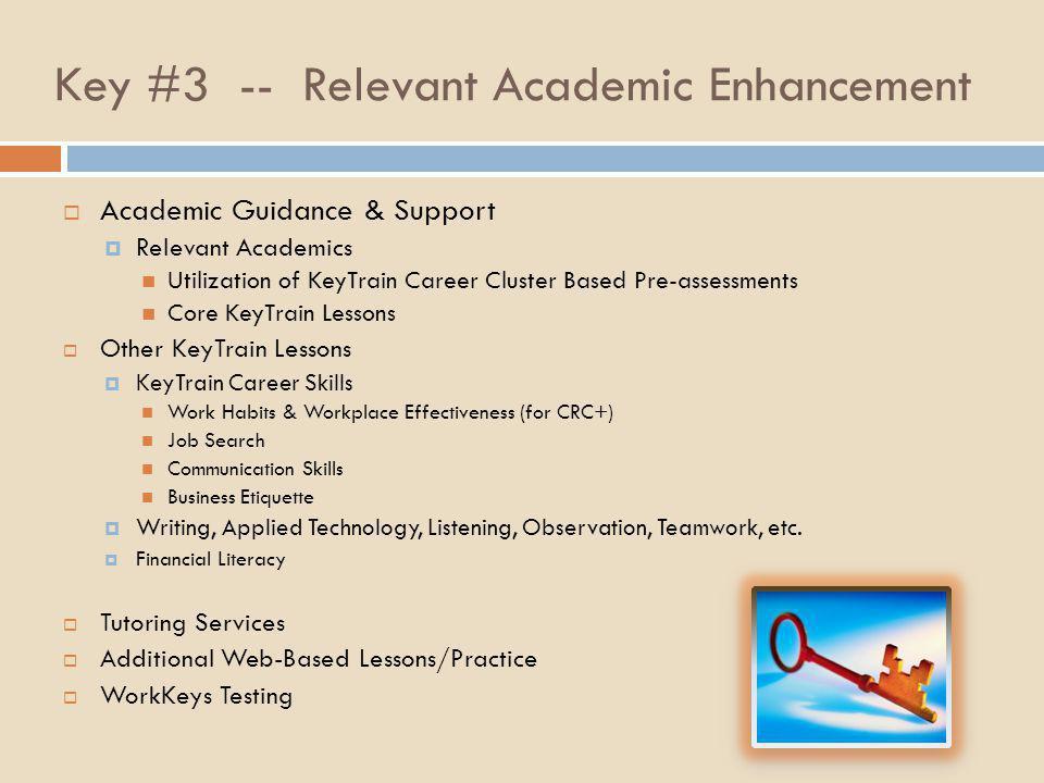 Key #3 -- Relevant Academic Enhancement