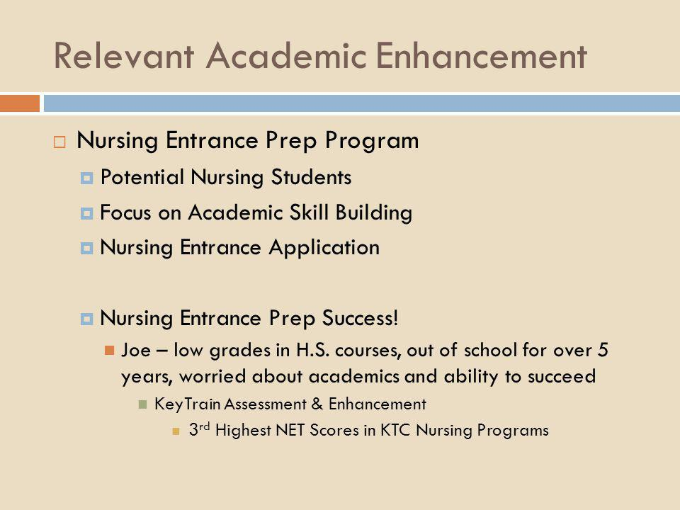 Relevant Academic Enhancement