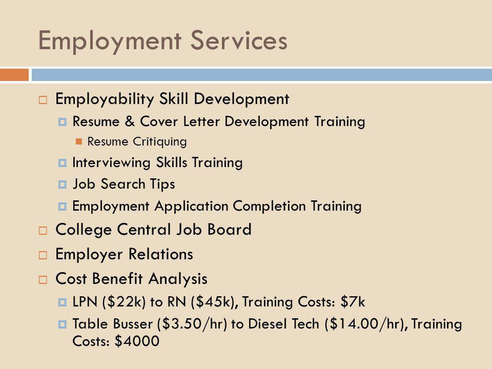 Employment Services Employability Skill Development